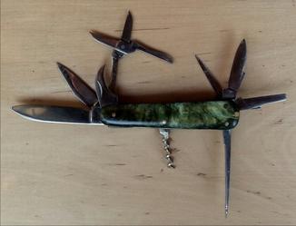 Нож складной 10 предметный , Ворсма, 1961 год