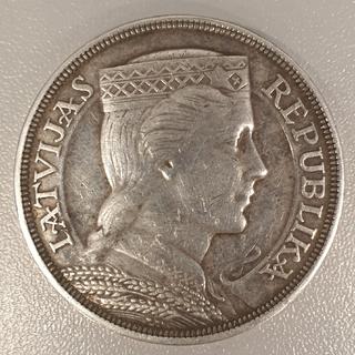 5 латов 1931 года Латвия