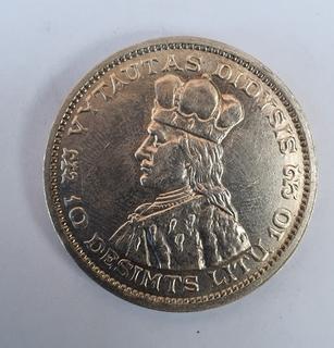 10 лит 1936 год. Литва.