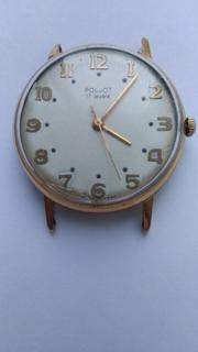 Часы Полет. Au20. 17 камней.