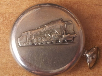 Карманные часы ''Молния. Паровоз''. СССР