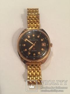 Позолоченные командирские часы с браслетом (AU). Заказ МО СССР