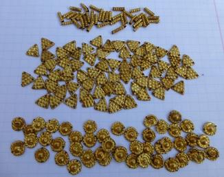 Пришивные бляшки, Скифы (Au) 155 шт.