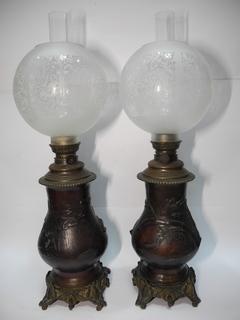 Пара Керосиновых Ламп ( Старая Европа ) Выс 65 см