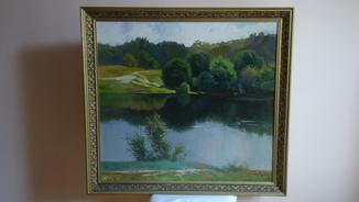 Пейзаж ''У реки'' 1998г. Н.Х.У. ЗоркоЮ.В. 78х90см. Холст/М