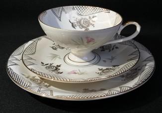 Прекрасное чайное трио/Цветы/Золочение