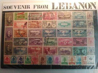 """""""Сувенир с Ливана"""". Марки. Ливан 1925-1968 гг."""