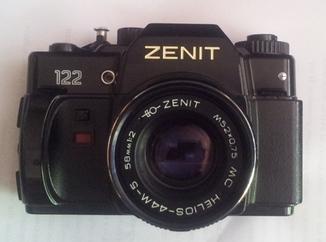 Обектив HELIOS(Гелиос)-44М-5, фотоаппарат ZENIT 122