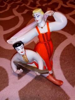 Статуэтка СССР Танцы под балалайку