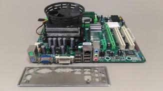 Комплект материнская плата Biostar A740G M2+/Phenom X4 9550/DDR2 2Gb/охлад