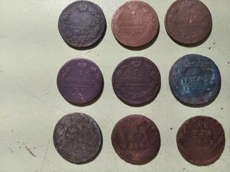 Медные монеты РИ 68 шт.