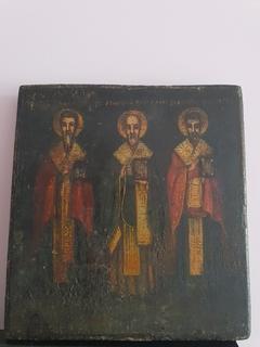 Старинная Икона Трех Святых