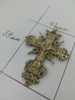 Крест, 8-й тип крестов по Винокуровой, 17-18вв.