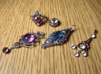 Кулоны серебро 875 кольцо