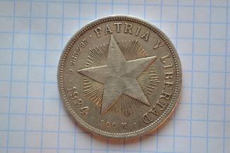 Песо Куба. Серебро. 1934 год