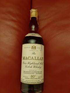 Macallan pure highland malt scotch whisky 1961