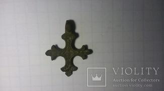 Крест  КР (корсунчик)нательный 11-13 век