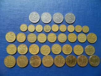 Подборка нечастых монет Украины.