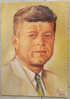 """""""Джон Кеннеди"""" Холст масло."""
