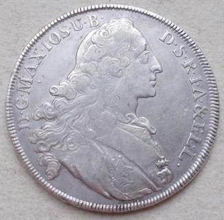 1 талер 1766 г. Максимилиан III Иосиф/Патрона. Бавария.
