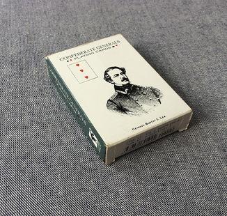 """Игральные карты """"Генералы Конфедерации"""", 55 л, Италия (для США)"""