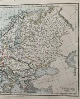 Карта Европы 1853 А. Финдлей