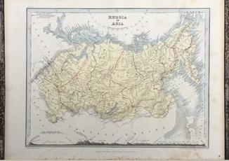 1849 Россия в Азии. J. Dower. Оригинал