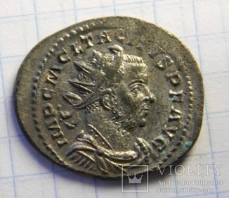 Антониниан Тацита, остатки серебрения