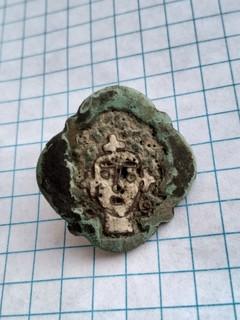 Квадрифолийная дробница КР с изображением лика (емаль)