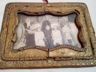 Дрогобицький польський чиновник Проць Ю. з сімєю. Фото 1910-1917рр. в рідній рамці.