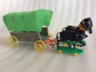 Повозка с лошадьми ГДР из набора индейцы