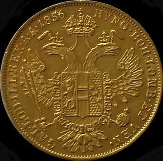 1 дукат 1856 року, Австро-Угорщина, Франц-Йосип, UNC