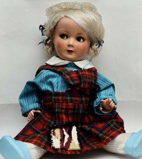 Немецкая кукла с подвижными глазами и клеймом