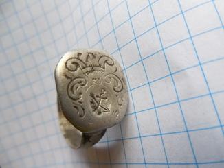 Серебряный казацкий перстень 16-17-век