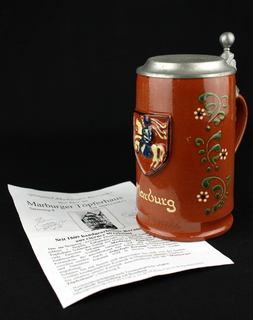 Коллекционная пивная кружка. Marburger Keramik. Германия. (0325)