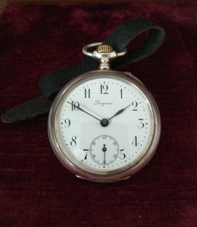 Серебряные часы Longines