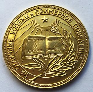 Золотая школьная медаль РСФСР.