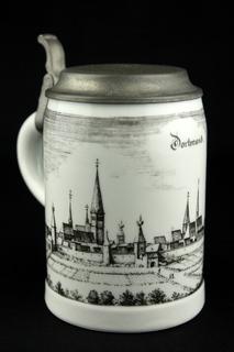 Коллекционная пивная кружка. Royal Porzellan Bavaria KPM. Dortmund. Германия. (0324)