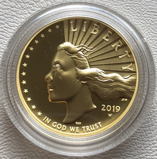 100 $ 2019 года США золото 31,1 грамм 999,9'