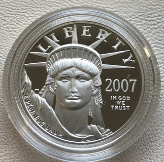 100 $ 2007 года США платина 31,1 грамм 999,5'