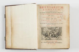 Breviarium Romanum Antverpen MDCCLII-1752