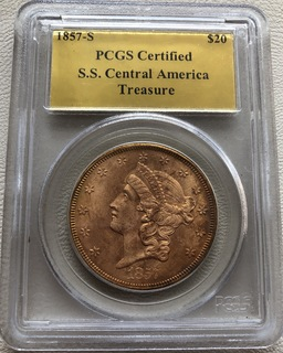 20 $ 1857-S года США монета с затонувшего корабля