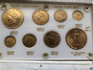 Набор монет США 20$;10$;5$;2,5$ золото 125,25 грамм 900'
