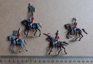 Солдатики оловянные - Германия -  4 кавалериста.