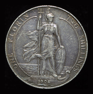 Великобритания флорин 1904 серебро редкий год