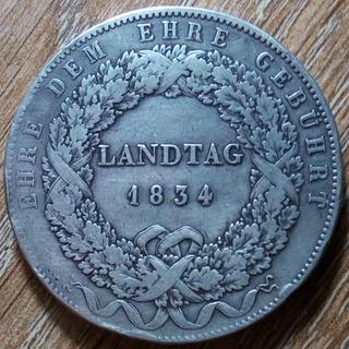 Бавария 1 талер 1834 г.
