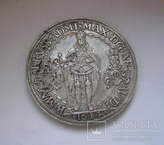 Подвійний талер 1614 р. Максиміліан, як магістр Тевтонського ордену