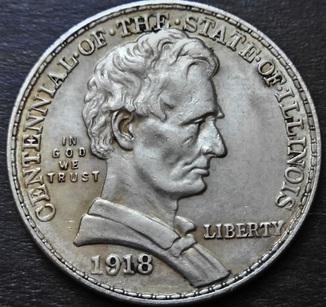 50 Центов 100-летие штата  Иллинойс, США, серебро