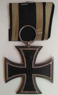 Железный крест 2-го класса, клеймо WMS, ПМВ