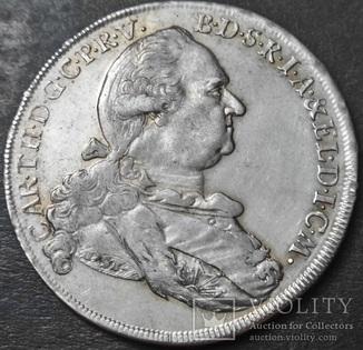 1 талер 1779 год,Карл IV Теодор (1724 - 1799, серебро)